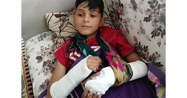 Ders çalışmaya gitti! İki kolu kırıldı