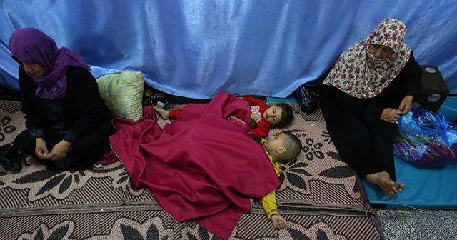 Filistinliler okullara sığındı