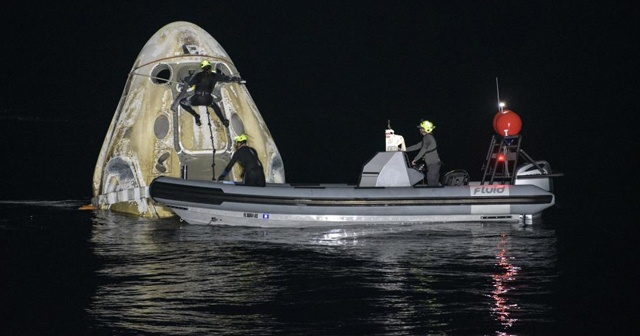 NASA ve SpaceX astronotları Dünya'ya döndü