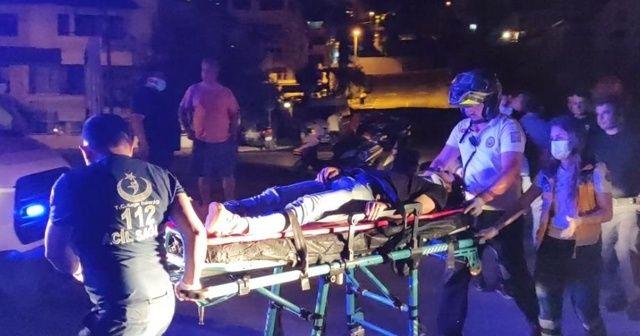 Polis otosuyla kurye çarpıştı: 1 yaralı