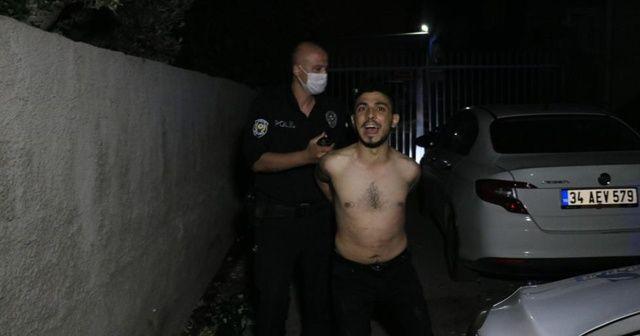 """Polisten kaçamayınca """"polis benim baş tacım"""" dedi"""