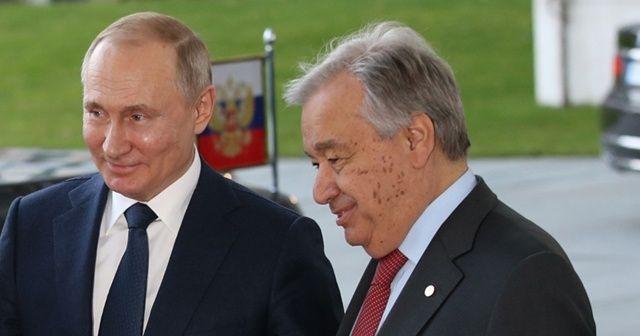 Putin ve BM Genel Sekreteri Guterres Filistin'i görüştü