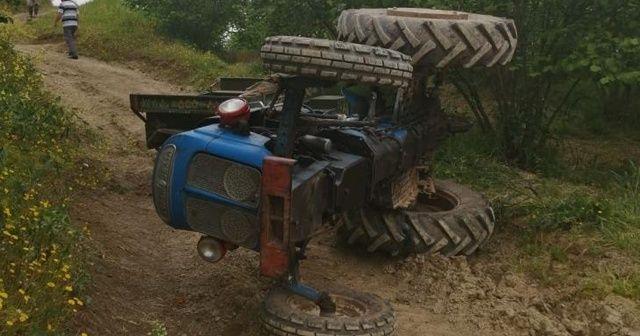 Traktörün altında kalan çiftçi kurtarılamadı