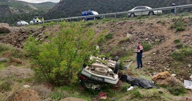 Uçuruma devrilen otomobildeki sürücü öldü