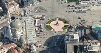 1 Mayıs'ta Taksim Meydanı drone ile görüntülendi