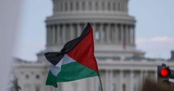 Beyaz Saray önünde Filistin protestosu