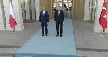 Cumhurbaşkanı Erdoğan, Polonya Cumhurbaşkanı resmi törenle karşıladı