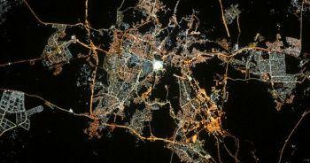 """Fransız astronottan uzaydan """"Kabeli"""" fotoğrafla bayram kutlaması"""
