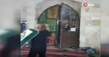 İsrail'in hain saldırısı kameraya yansıdı