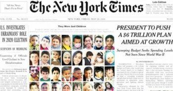 İsrail'in katlettiği çocuklar manşette