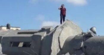 Cami enkazında ezan: İsrail'e meydan okudu