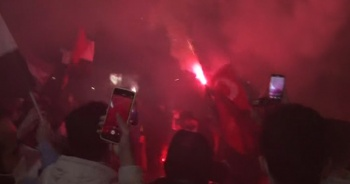 İsrail Konsolosluğu önünde Mescid-i Aksa protestosu