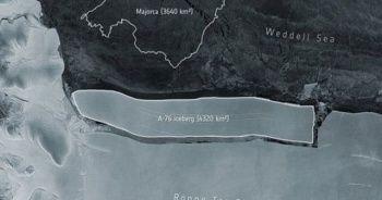 İstanbul büyüklüğünde buzul Antarktika'dan koptu