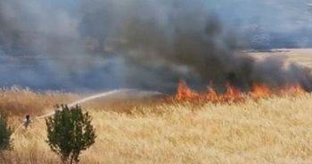 KKTC'de bir arazide korkutan yangın!