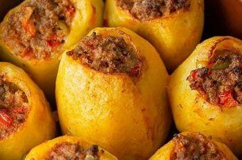 Kuzu etli patates dolması tarifi | Etli patates dolması