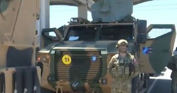 NATO Türk zırhlı aracı 'Vuran'ı paylaştı