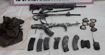 Öldürülen teröristlerle birlikte çok sayıda mühimmat ele geçirildi