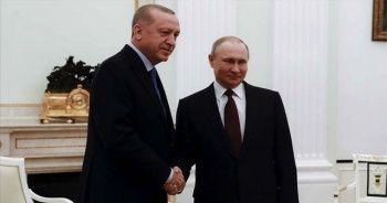 Son Dakika...Cumhurbaşkanı Erdoğan Putin ile görüştü