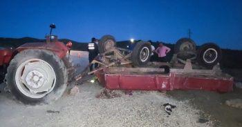 Traktörün devrilmesi sonucu 3'ü çocuk 4 kişi öldü