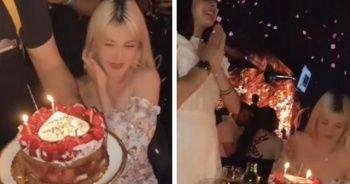 Yasağa aldırmadan doğum günü kutladılar