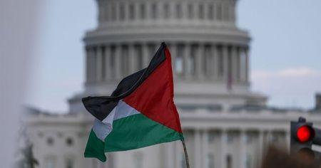 ABD'nin başkenti Washington'da İsrail protestosu