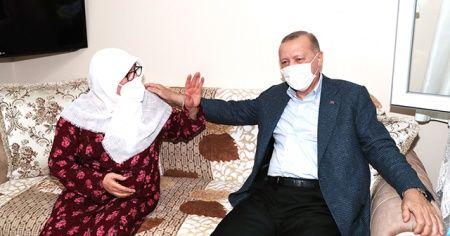 Cumhurbaskanı Erdoğan, Mahruze Keleş'i ziyaret etti