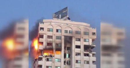 İsrail çok katlı bir binayı daha hedef aldı