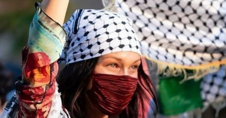 İsrail ünlü model Bella Hadid'i hedef gösterdi!