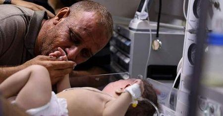 Ömer Bebek hayata tutundu Filistin sevince boğuldu