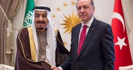 Son dakika: Cumhurbaskanı Erdoğan, Suudi Arabistan Kralı Selman Suud ile görüştü