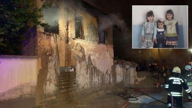 3 küçük kız kardeşin feci ölümü: Yangında can verdiler
