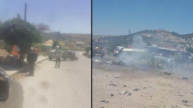 Afrin'de bomba yüklü araç patladı: 1 ölü 4 yaralı