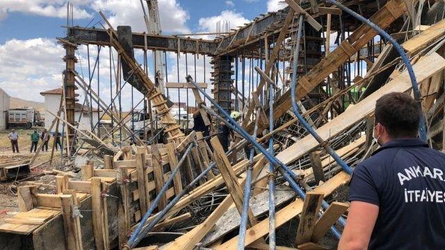 Ankara'da iş yeri inşaatı çöktü: 1 işçi öldü