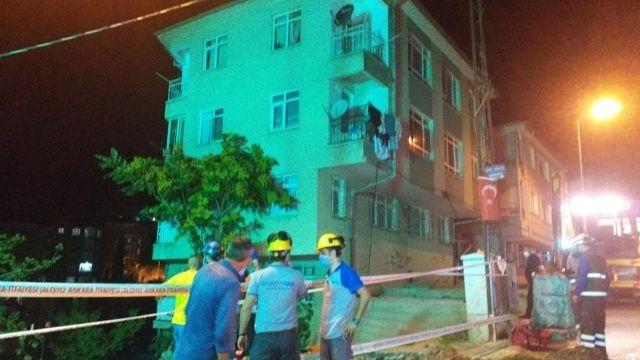 Ankara'da toprak kayması! Binalar boşaltıldı