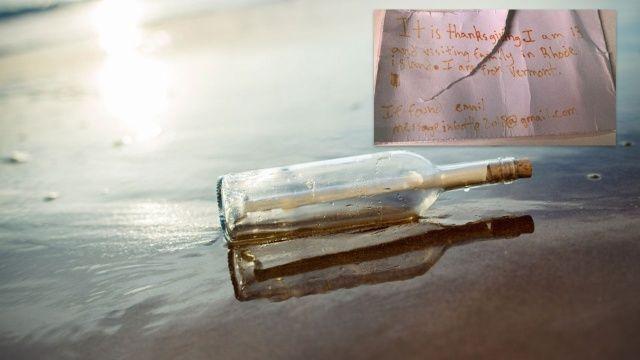 Atlantik Okyanusu'ndaki şişeden çıkan mesaj iki genci buluşturdu