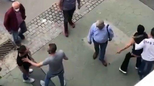 Cadde ortasında bir kadın biranda çığlıklar atmaya başladı