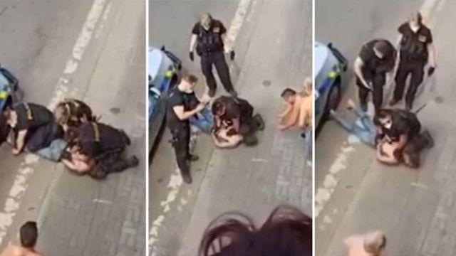 Çekya'da polisin sert müdahalesi Floyd'u akıllara getirdi