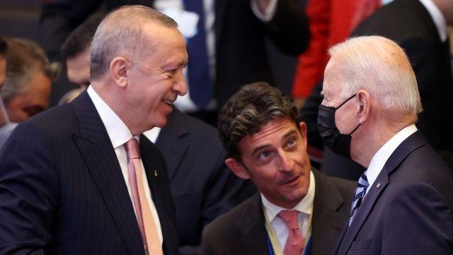 Cumhurbaşkanı Erdoğan ile ABD Başkanı Biden'dan samimi görüntüler
