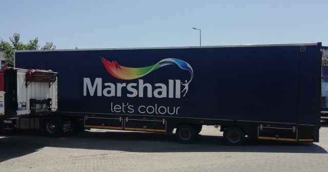 Marshall gezici tır, boya ustalarının MYK sınavına girmelerine destek oluyor