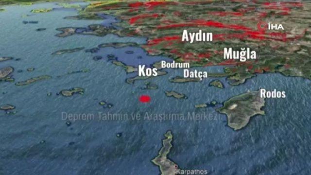 Muğla'daki 5,3'lük depremin ürküten sesi