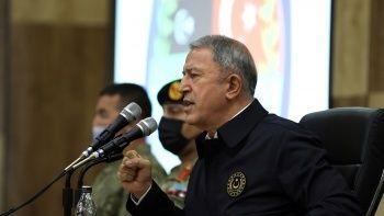 Bakan Akar'dan 'Libya' açıklaması: Bizim alnımız açık, başımız dik