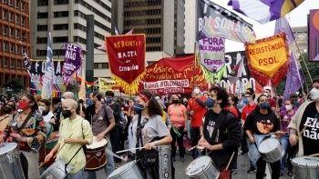 Brezilya'da Bolsonaro protestosu