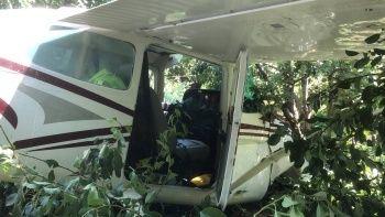 Bursa'da uçak kazası! Meyve bahçesine indi...