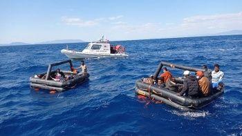 Ege Denizi'nde 131 düzensiz göçmen kurtarıldı