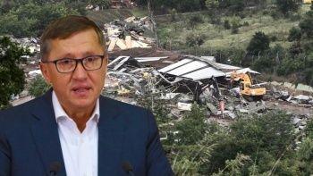 Lütfü Türkkan'ın kaçak çiftliği yıkıldı