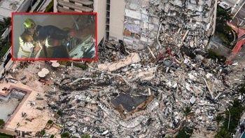 Miami'de yıkılan 12 katlı binanın enkazından bir çocuğu köpek kurtardı