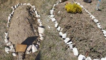 Polis alarma geçti: Boş arazide yeni mezar