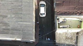 Polis hareketlerinden şüphelendi suç makinesini drone ile yakaladı