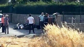 Şehit polisin katillerinin yakalanma anı kamerada