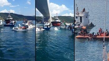 Balıkçı teknesi ile gemi çarpıştı
